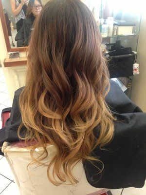 @Amy Lyons Lyons Green ombre dark to light | Black brown blonde ombré | Yelp I like this!