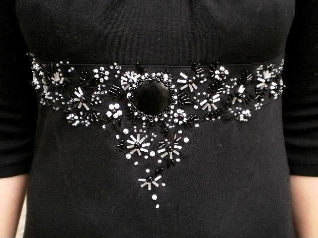 Схема вышивки стразами на платье