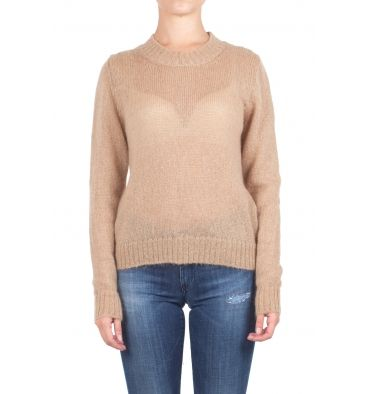 Gotha - Sweater - 300421 - Camel brown - 160,00 € Wool sweater.Crew.Long sleeve.Ribbed profiles on the neck, cuffs and hem.Straight cut.Fabric composition: 50% mohair, 32% polyamide, 18% wool.Made in Italy.The model wears size 0 and is 175 cm high.