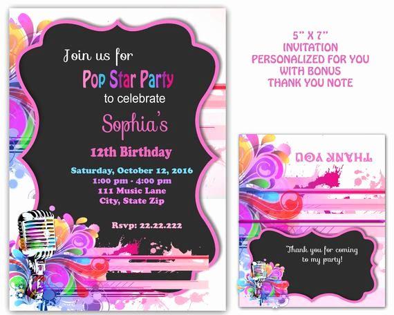 Karaoke Party Invitation Wording Luxury Pop Star Party Pop Star Invitati Pop Star Party Christmas Party Invitation Template Halloween Party Invitation Template