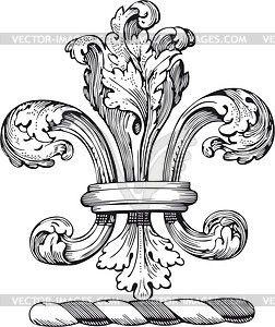 Лилия - рисунок в векторном формате