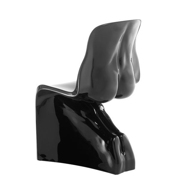 Her Hochglanz, Stuhl, Farbe: Schwarz 699