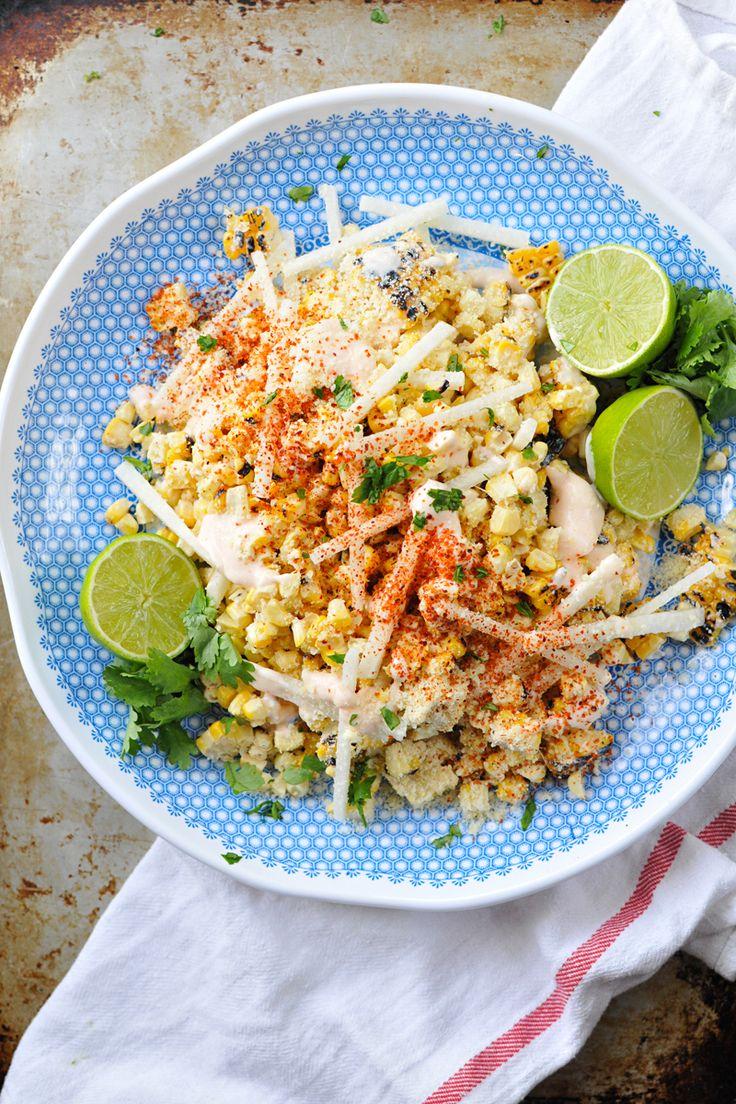 Mexican Street Corn with Jicama + Chile Salt | www.thepigandquill.com | #glutenfree #vegetarian #summer