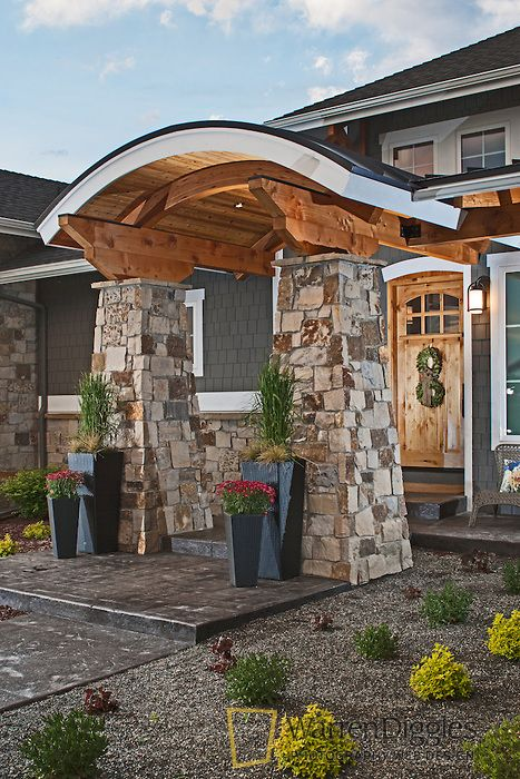 Houses With Stone Pillars : Best images about entrance ways on pinterest