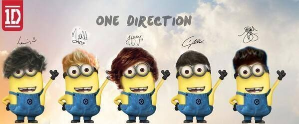 One Direction Minions This made me like them