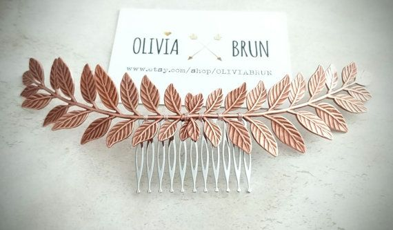 Hey, I found this really awesome Etsy listing at https://www.etsy.com/listing/476981820/flash-sale-rose-gold-laurel-leaf-hair
