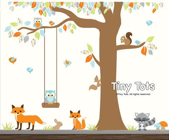 Children's Forest Wall Decal: A portion of every purchase through this link supports charity.