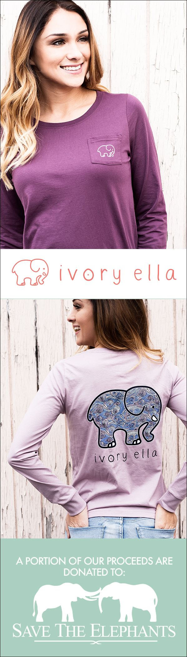 Check out our latest t-shirts & hoodies. Every purchase supports Save the Elephants.