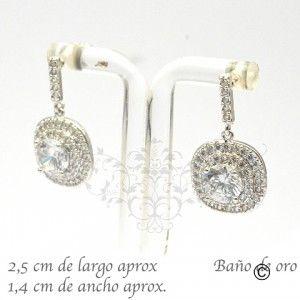 BER_0021 aros con circones y baño de oro