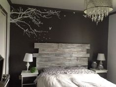 1000 ideas about lit en bois on pinterest head bed. Black Bedroom Furniture Sets. Home Design Ideas