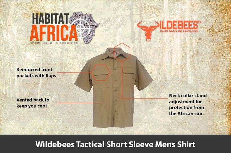 The Wildebees Tactical Short Sleeve Mens Shirt is made from 100% Stretch Cotton…