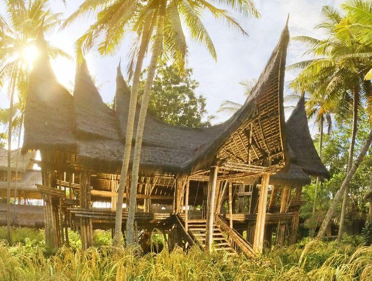 Minangkabau construction from bamboo