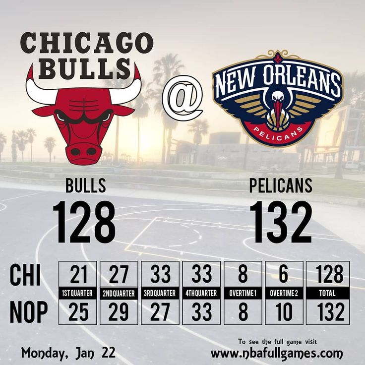 #PELICANS wins #BULLS  #neworleanspelicans #chicagobulls #neworleans #chicago #bullsvspelicans #pelicanswin #nba2018 #nba #nba2k18 #basketball #basket #bball #bball #1stquarter #halftime #halftimereport #3rdquarter #stats #sports #sport #deportes #basquet #basquetbol #resultados
