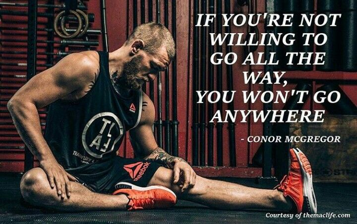 """UFC LW champion and MMA superstar Conor McGregor. """"Give no time to the part time."""""""