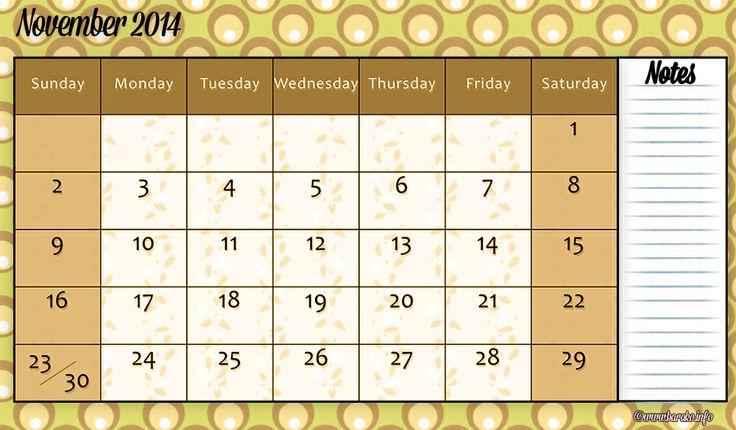 260 Best Printable Calendar 2014 Images On Pinterest Free