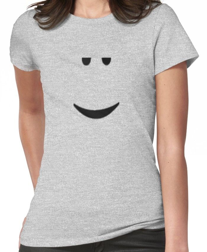 Roblox Chill Face Fitted T Shirt T Shirts For Women Shirt