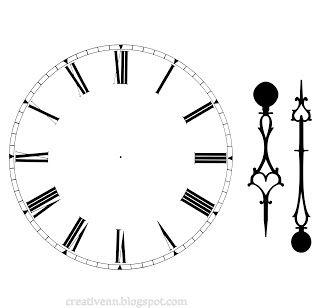 28 best clock faces images on pinterest clock faces face roman clock face plus hands pronofoot35fo Images