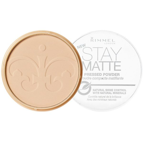 Rimmel London Stay Matte Pressed Powder featuring polyvore, beauty products, makeup, face makeup, face powder, beauty, faces, filler, pink blossom, matte face powder, rimmel and compact face powder