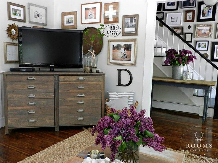 New Gallery Wall layout around the tv | Rooms FOR Rent Blog