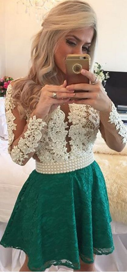 Charming Emerald Green Prom Dress