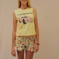 Reverse California Girl top.  A cute and fun printed design shirt, great for those summer beach days. $30