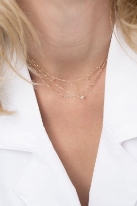 Tiny heart, huge impact. A perfect layer look! #necklaces #layerlook #diamonds WWW.NEWONE-SHOP.COM