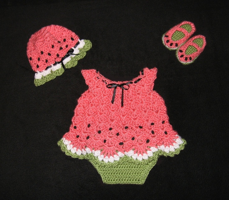 Diaper Dress Set for Baby Girl with by CreativeDesignsbyAmi...love the little watermeLon!!!