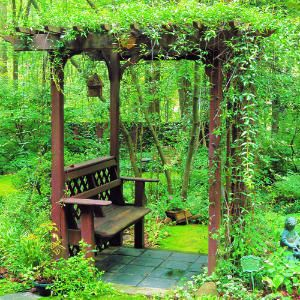 How to build a bench with an arbor