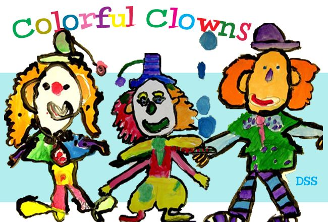 Colorful clowns teach color wheel from DSS