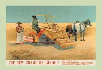 The New Champion Binder 12x18 Giclee on canvas