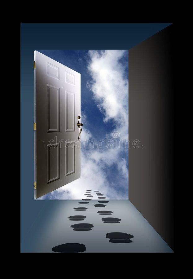 Open Door Sky And Footprints Open Door With Graphic Clouds And Sky Affiliate Sky Door Open Clouds Graphic Ad Clouds Doors Stock Photos