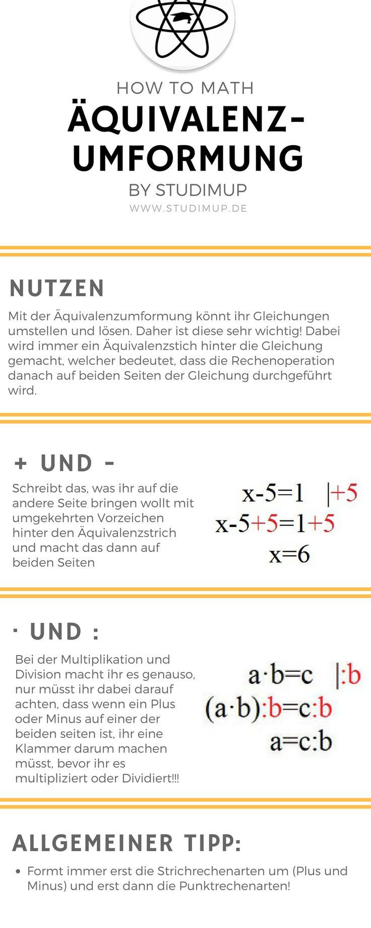 Die Äquivalenzumformung leicht erklärt und veranschaulicht. Mathe lernen ist nicht so schwer. Mit Beispiel. How to Math. Mathematik lernen im Gymnasium und der Realschule.
