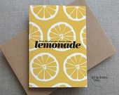 Cheer up Card, 'When life gives you lemons, make lemonade' card, Thinking of you Card, Best Wishes Card | Gracious Me Design