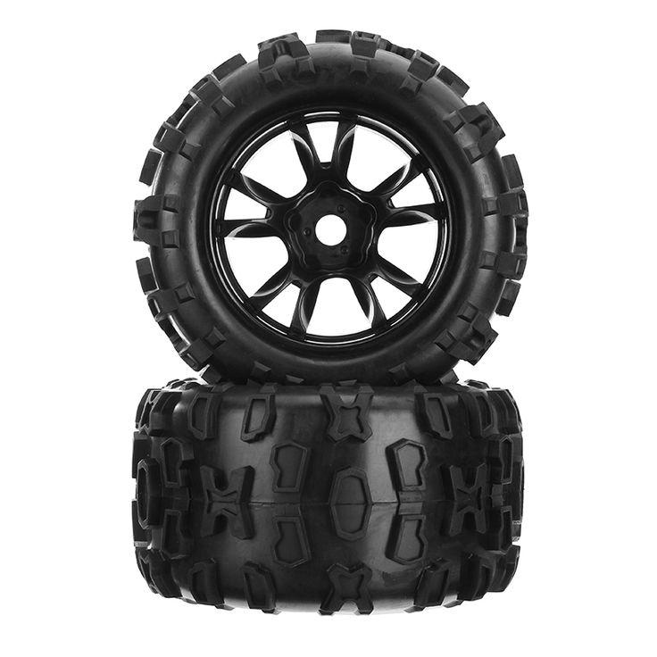 DHK Maximus 8382-704 1/8 llanta de llanta de neumáticos de llanta encolada completa 2PCS RC Coche partes