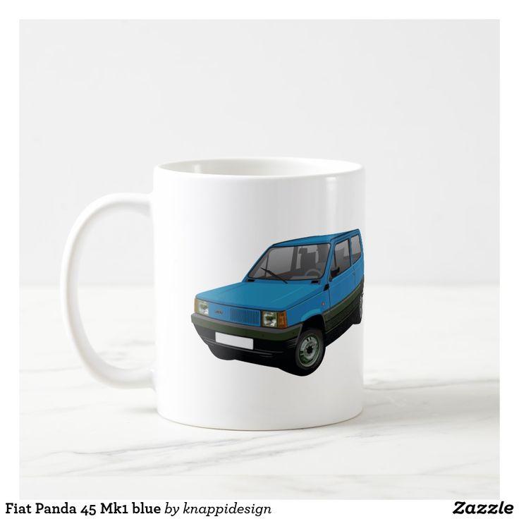 Fiat Panda 45 Mk1 blue. two images per coffee mug. Change background color and check out other color options too.  #fiat #fiatautomobile #automobile #panda #fiatpanda #panda45 #fiatpanda45 #italiancars #cars #carillustration #cafe #caffe #kaffemuggar #coffeemug #mukit #auto #machine #automobiles #classiccars #bluecar