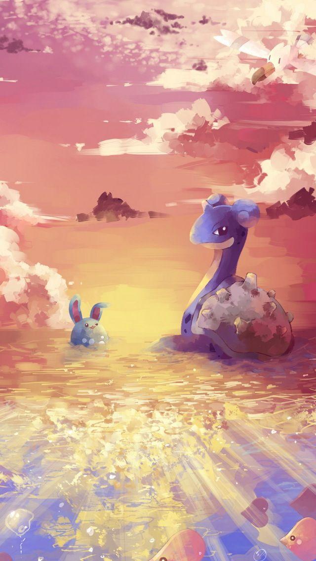 Lapras And Azumarill Pokemon Iphone Wallpaper Mobile9