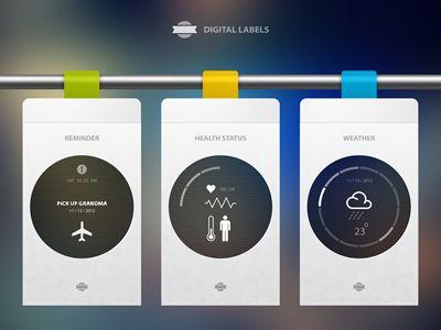 Digital Labels - Designer: Cosmin Capitanu | #ui