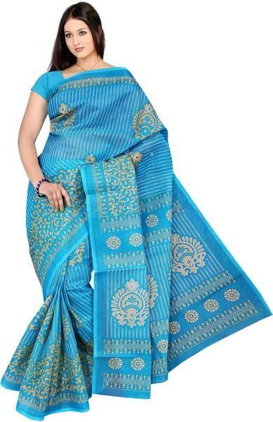 LadyIndia.com # Casual Saris, Fabulous Blue Printed Kota Cotton Saree For Women -Sari, Printed Sarees, Casual Saris, Silk Saree, https://ladyindia.com/collections/ethnic-wear/products/fabulous-blue-printed-kota-cotton-saree-for-women-sari