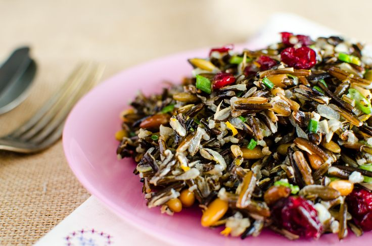 Native american wild rice salad~~technically not really a salad, but a great side dish, or maybe even a meal for some.
