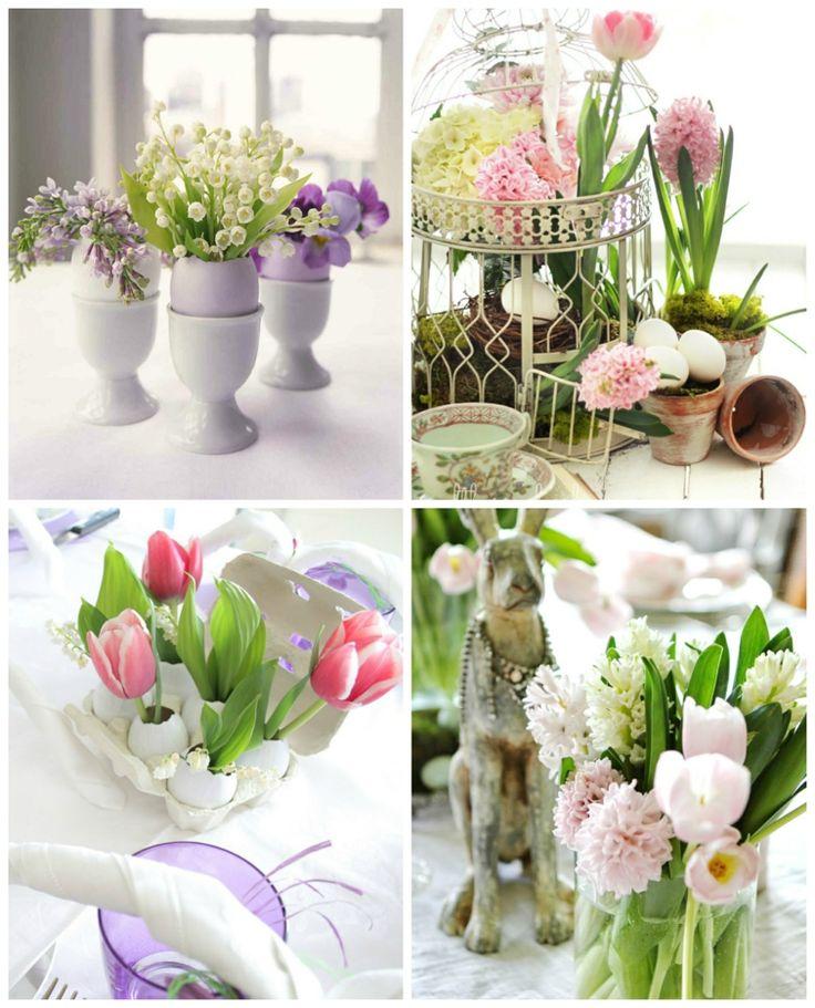 Déco de table Pâques avec des fleurs en 48 idées inspirantes ...