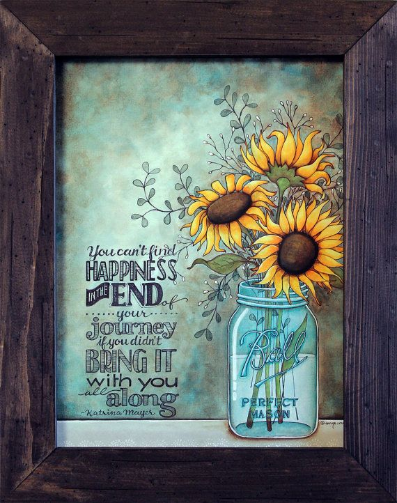 Sunflower Decor Inspirational Decor By RusticPrimitivesEtc On Etsy