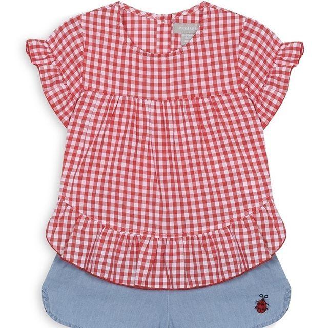 Blusa y pantalones cortos de cuadros rojos  Categoría:#bebé #bebé_niña #primark_niños en #PRIMARK #PRIMANIA #primarkespaña  Más detalles en: http://ift.tt/2DXlBFo