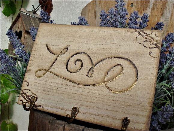 Claviculário/Porta-chaves Love | Olha o que eu fiz... | 28F2E6 - Elo7