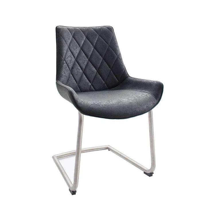 Perfect Schwingstuhl Set mit Schalensitz Anthrazit gepolstert er Set Jetzt bestellen unter https moebel ladendirekt de kueche und esszimmer stuehle und hocker