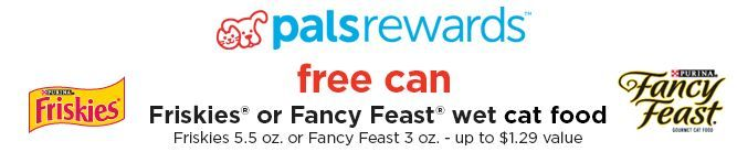 FREE Can of Friskies or Fancy Feast Wet Cat Food!