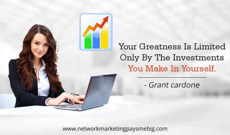 Your #greatness is limited only by the #investments you make in #yourself. ~Grant cardone  http://www.networkmarketingpaysmebig.com/