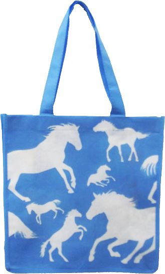 Horse Print Reusable Shopping Tote Bag - only $3.99! #EquestrianStyle | ChickSaddlery.com