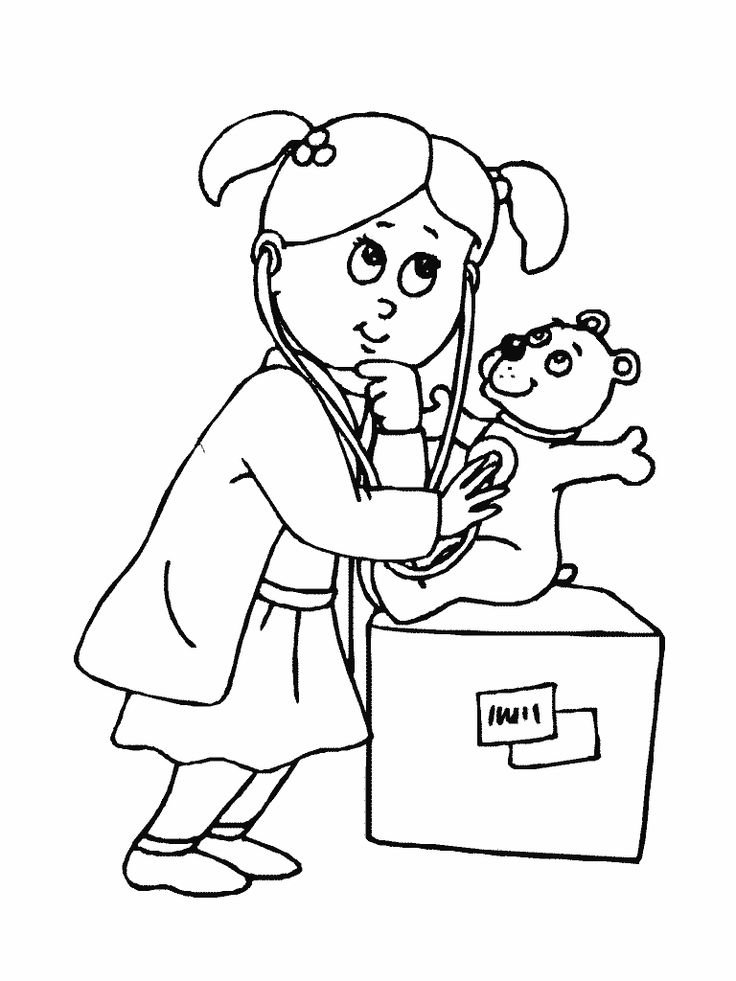 Free coloring pages of doctor | Nurse | Pinterest | Coloring pages ...