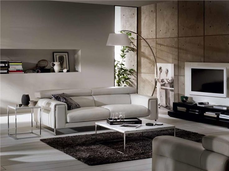 Natuzzi Sofas ETOILE and floor lamp | Family Room