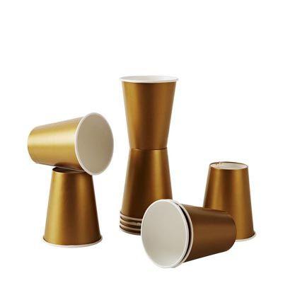 Gold Paper Cups - Shop